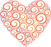 Heart Shape Swirl white background Stock Photos