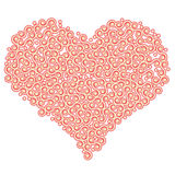 Heart shape with swirls Royalty Free Stock Images