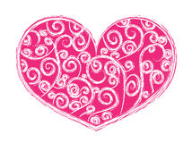 Heart-shape with swirls Royalty Free Stock Photo