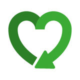 heart shape symbol of reload icon Stock Photography