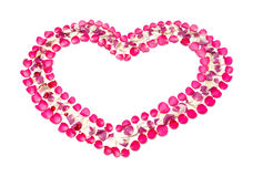 Heart shape symbol from rose petal Royalty Free Stock Image