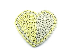Heart shape tablet pill Royalty Free Stock Image