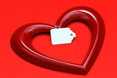 Heart shape with tag Stock Images