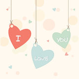 Heart shape tag with text for Valentines Day. Royalty Free Stock Photography