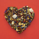 Heart shape of tea Royalty Free Stock Photos