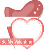 Heart shape with text Be my Valentine. Vector Royalty Free Stock Images