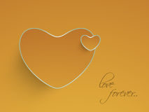 Heart shape with text of love forever. Stock Images