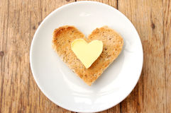 Heart shape toast Royalty Free Stock Images