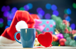 Heart shape toy and cup Stock Images
