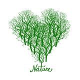 Heart shape tree logo Stock Photo