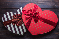 Heart shape valentine boxes Royalty Free Stock Photos