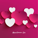Heart Shape Valentine's Day Paper Cut-out Vector Stock Photography