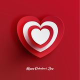 Heart Shape Valentine's Day Paper Cut-out Vector Stock Images