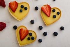 Heart Shape Vanilla Tart Stock Images