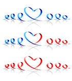 Heart shape. Vector Royalty Free Stock Image