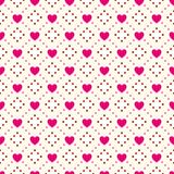 Heart shape vector seamless pattern. Pink and Royalty Free Stock Photo