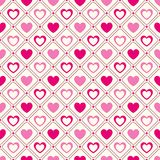 Heart shape vector seamless pattern. Pink and Stock Photo