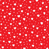 Heart shape vector seamless pattern. Stock Photos
