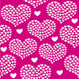 Heart shape vector seamless pattern. Valentines day background for invitation Vector Illustration