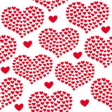 Heart shape vector seamless pattern. Valentines day background for invitation Royalty Free Stock Images