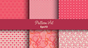 Heart shape vector seamless patterns Royalty Free Stock Photography