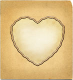 Heart shape vingette on photo paper Royalty Free Stock Images