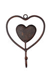 Heart shape vintage hanger Royalty Free Stock Photos