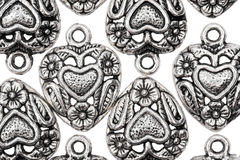 Heart shape vintage metal pendants Royalty Free Stock Images