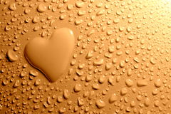 Heart shape with water drops Stock Image