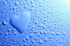 Heart shape with water drops Royalty Free Stock Photo