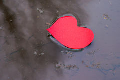 Heart shape in water stream Royalty Free Stock Photos