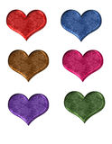 Heart shape web buttons Royalty Free Stock Image