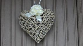 Heart shape wedding decoration stock video footage