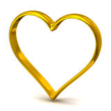 Heart shape wedding ring Royalty Free Stock Image
