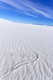 Heart Shape on White Sands Royalty Free Stock Photography