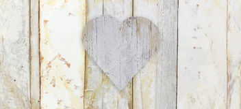 Heart shape on wood planks grunge texture Royalty Free Stock Photography