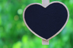 Heart shape wooden sign Stock Image