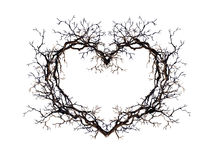 Free Heart Shape - Wreath From Branches, Twigs. Watercolor For Tattoo Design Stock Photos - 99123923