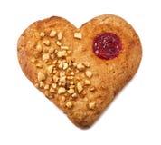 Heart shape xmas spice cake Stock Photo