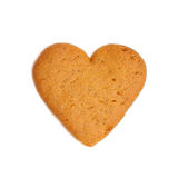 Heart shape xmas spice cake isolated. On white background Stock Photos