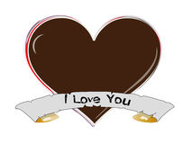 Heart shaped. Draw up i love you Stock Photo