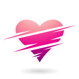 Heart Shaped Abstract Icon Royalty Free Stock Photography