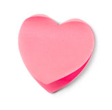 Heart shaped adhesive note Stock Photos