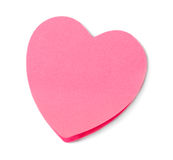 Heart shaped adhesive note Royalty Free Stock Photography