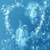 Heart shaped air bubbles Royalty Free Stock Photo