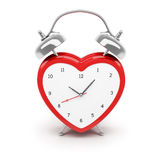 Heart shaped alarm clock Royalty Free Stock Photos