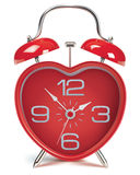 Heart shaped alarm clock. Vector illustration Royalty Free Stock Images