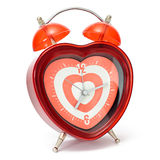 Heart shaped alarmclock Stock Image
