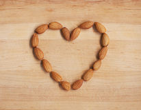 Heart Shaped Almonds Royalty Free Stock Images