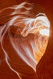 Heart shaped Antelope Canyon view Stock Images